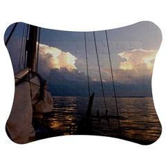 Sailing Into The Storm Jigsaw Puzzle Photo Stand (bow) by oddzodd
