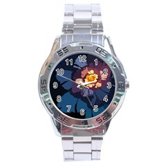 Flower Stainless Steel Analogue Watch by oddzodd