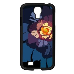 Flower Samsung Galaxy S4 I9500/ I9505 Case (black) by oddzodd
