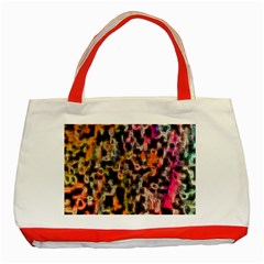 Colorful Texture                     Classic Tote Bag (red) by LalyLauraFLM