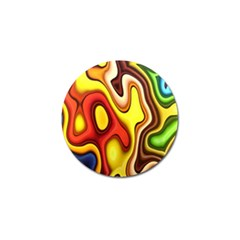 Colorful 3d Shapes                     Golf Ball Marker by LalyLauraFLM