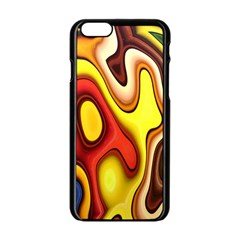 Colorful 3d Shapes               Apple Iphone 6/6s White Enamel Case by LalyLauraFLM
