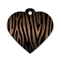 Skin4 Black Marble & Bronze Metal (r) Dog Tag Heart (two Sides) by trendistuff