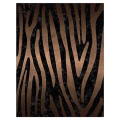Skin4 Black Marble & Bronze Metal (r) Drawstring Bag (large) by trendistuff