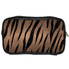 Skin3 Black Marble & Bronze Metal (r) Toiletries Bag (two Sides) by trendistuff