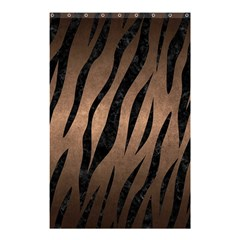 Skin3 Black Marble & Bronze Metal (r) Shower Curtain 48  X 72  (small) by trendistuff