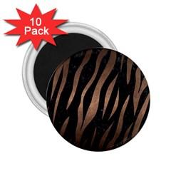 Skin3 Black Marble & Bronze Metal 2 25  Magnet (10 Pack) by trendistuff