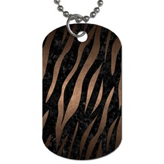 Skin3 Black Marble & Bronze Metal Dog Tag (two Sides) by trendistuff