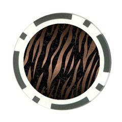 Skin3 Black Marble & Bronze Metal Poker Chip Card Guard by trendistuff