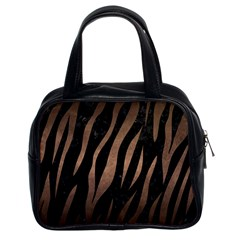 Skin3 Black Marble & Bronze Metal Classic Handbag (two Sides) by trendistuff