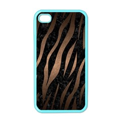 Skin3 Black Marble & Bronze Metal Apple Iphone 4 Case (color) by trendistuff