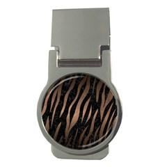 Skin2 Black Marble & Bronze Metal Money Clip (round) by trendistuff