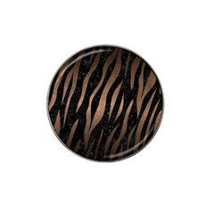 Skin2 Black Marble & Bronze Metal Hat Clip Ball Marker by trendistuff