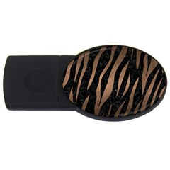 Skin2 Black Marble & Bronze Metal Usb Flash Drive Oval (4 Gb) by trendistuff