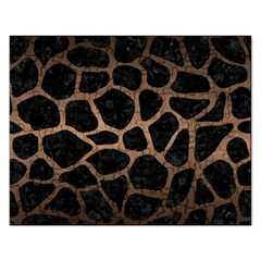 Skin1 Black Marble & Bronze Metal (r) Jigsaw Puzzle (rectangular) by trendistuff