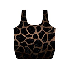 Skin1 Black Marble & Bronze Metal (r) Full Print Recycle Bag (s) by trendistuff
