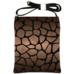 Skin1 Black Marble & Bronze Metal Shoulder Sling Bag by trendistuff