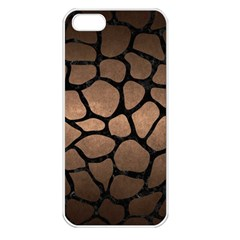 Skin1 Black Marble & Bronze Metal Apple Iphone 5 Seamless Case (white) by trendistuff