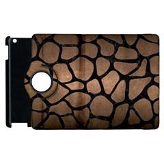 Skin1 Black Marble & Bronze Metal Apple Ipad 2 Flip 360 Case by trendistuff
