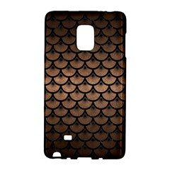 Scales3 Black Marble & Bronze Metal (r) Samsung Galaxy Note Edge Hardshell Case by trendistuff