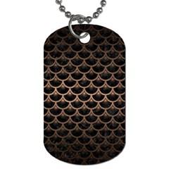 Scales3 Black Marble & Bronze Metal Dog Tag (one Side) by trendistuff