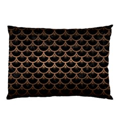 Scales3 Black Marble & Bronze Metal Pillow Case