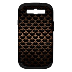 Scales3 Black Marble & Bronze Metal Samsung Galaxy S Iii Hardshell Case (pc+silicone) by trendistuff