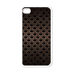Scales2 Black Marble & Bronze Metal Apple Iphone 4 Case (white) by trendistuff
