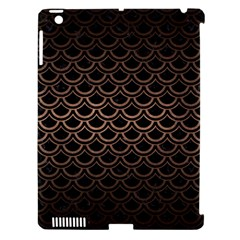Scales2 Black Marble & Bronze Metal Apple Ipad 3/4 Hardshell Case (compatible With Smart Cover) by trendistuff