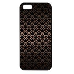 Scales2 Black Marble & Bronze Metal Apple Iphone 5 Seamless Case (black) by trendistuff
