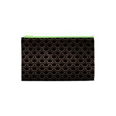 Scales2 Black Marble & Bronze Metal Cosmetic Bag (xs) by trendistuff