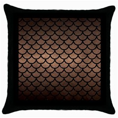 Scales1 Black Marble & Bronze Metal (r) Throw Pillow Case (black) by trendistuff