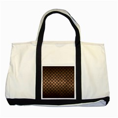 Scales1 Black Marble & Bronze Metal (r) Two Tone Tote Bag by trendistuff
