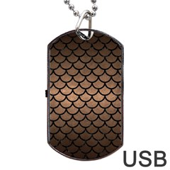 Scales1 Black Marble & Bronze Metal (r) Dog Tag Usb Flash (two Sides) by trendistuff