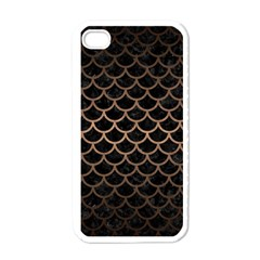 Scales1 Black Marble & Bronze Metal Apple Iphone 4 Case (white) by trendistuff