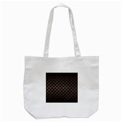 Scales1 Black Marble & Bronze Metal Tote Bag (white) by trendistuff
