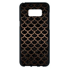 Scales1 Black Marble & Bronze Metal Samsung Galaxy S8 Plus Black Seamless Case by trendistuff