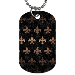 Royal1 Black Marble & Bronze Metal (r) Dog Tag (two Sides) by trendistuff