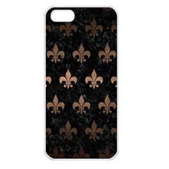 Royal1 Black Marble & Bronze Metal (r) Apple Iphone 5 Seamless Case (white) by trendistuff