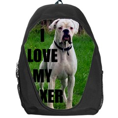 Boxer Love W Pic White Backpack Bag by TailWags