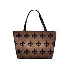 Royal1 Black Marble & Bronze Metal Classic Shoulder Handbag by trendistuff