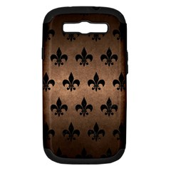 Royal1 Black Marble & Bronze Metal Samsung Galaxy S Iii Hardshell Case (pc+silicone) by trendistuff