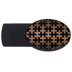 Puzzle1 Black Marble & Bronze Metal Usb Flash Drive Oval (2 Gb) by trendistuff
