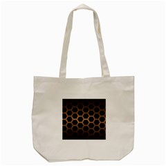 Hexagon2 Black Marble & Bronze Metal Tote Bag (cream) by trendistuff