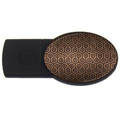 Hexagon1 Black Marble & Bronze Metal (r) Usb Flash Drive Oval (2 Gb) by trendistuff