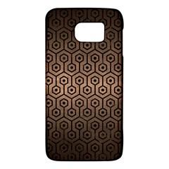 Hexagon1 Black Marble & Bronze Metal (r) Samsung Galaxy S6 Hardshell Case  by trendistuff