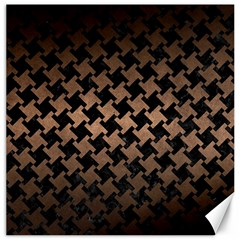 Houndstooth2 Black Marble & Bronze Metal Canvas 12  X 12  by trendistuff