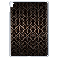 Hexagon1 Black Marble & Bronze Metal Apple Ipad Pro 9 7   White Seamless Case by trendistuff