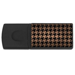 Houndstooth1 Black Marble & Bronze Metal Usb Flash Drive Rectangular (4 Gb) by trendistuff