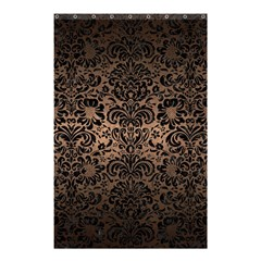 Damask2 Black Marble & Bronze Metal (r) Shower Curtain 48  X 72  (small) by trendistuff
